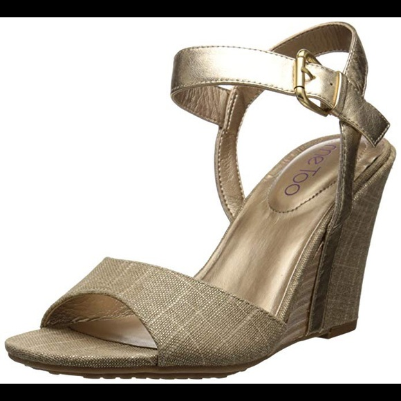 me too Shoes - NWB Me Too Lucie12 Gold Dress Sandal Women's